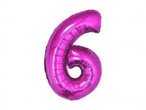 eng pl Mini Shape Number 6 Pink Foil Balloon 35 cm 1 pc 26669 2
