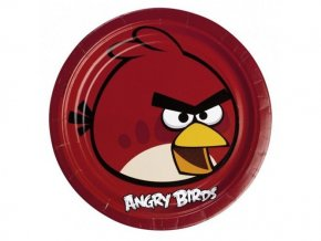 Tanier Angry Birds 23cm, 8ks v balení