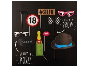 pb 551 photo booth props with text 18th birthdayzoom 1