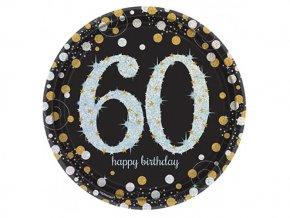 eng pl Gold Celebration 60th Prismatic Paper Plates 23 cm 8 pcs 20033 2