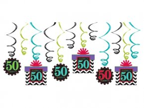 eng pl 50th Celebrate Swirls Decorations Pack 12 pc 17556 1