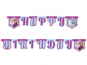 eng pl Happy Birthday die cut banner Frozen Northern Lights 215 cm 1 pc 21448 2