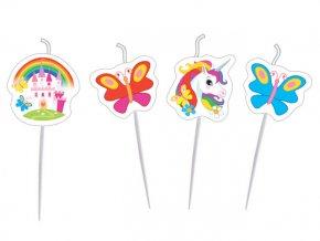 eng pl Mini Figurine Candles Unicorn 4 pcs 24584 3