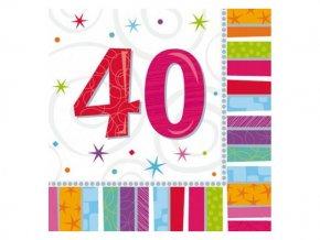 eng pl Radiant Birthday 40th Luncheon Napkins 16 pcs 2956 2