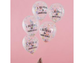 ps 561 i believe in unicorns confetti balloons