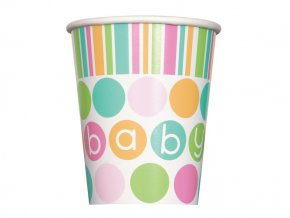 eng pl Baby Shower paper cups 266 ml 8 pcs 24748 1