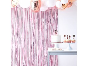 tw 804 pink matt fringe curtain
