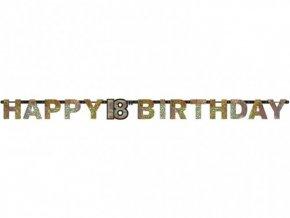 eng pl Letter Banner 18 Sparkling Celebration Silver Gold Prismatic 240 cm 1 pc 21628 2