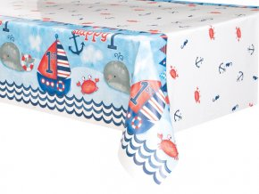 eng pl Nautical 1st Birthday Tablecover 213x137 cm 1 pc 24488 1