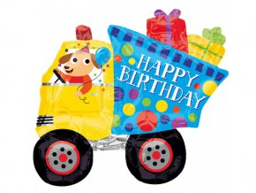 eng pl Mini Shape Happy Birthday Dog and Dumptruck Foil Balloon 22x20 cm 1 pc 23937 1