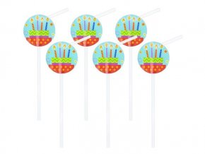eng pl Candles Drinking Straws 6 pcs 25752 1