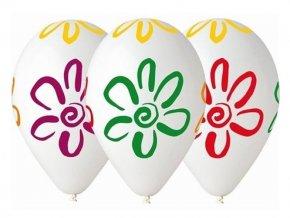 eng pl Balony pastelowe mix kolorow Malowane kwiatki 30 cm 5 szt 17027 2