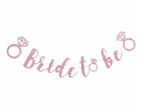 Girlanda-Nápis Bride To Be glitter pink 300cm