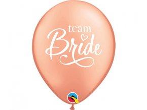 balony 11 cali ql z nadr team bride rozowo zlot