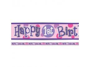 first birthday ladybird banner 1BUGBANN v2