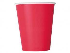 eng pl Red Paper Cups 266 ml 8 pcs 25324 2