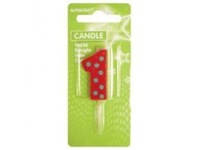 eng pl 1st Birthday Candle number one Only One 8 cm sky blue 12918 3