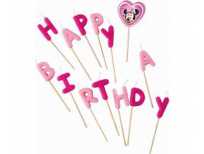 swieczki pikery happy birthday minnie bow tique