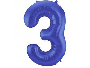fóliový balón čislo ,,3,, 86cm