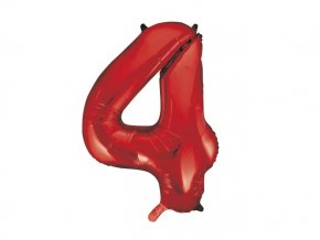 eng pl Number 4 Red Foil Balloon 86cm 1 pc 28720 2