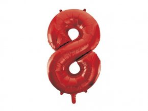 eng pl Number 8 Red Foil Balloon 86cm 1 pc 28724 2