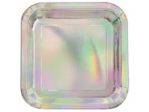 eng pl Paper Plates Star silver 18 cm 6 pcs 26860 1