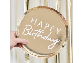 mix 101 gold happy birthday plate min