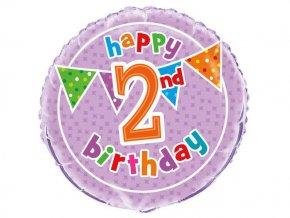 eng pl 2nd Birthday Foil Balloon 47 cm 1 pc 20300 2