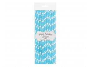 slomki papierowe jasnoniebieskie biale groszki