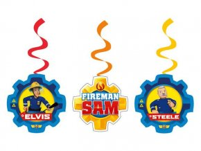 eng pl String Decoration Fireman Sam 6 pcs 24710 2