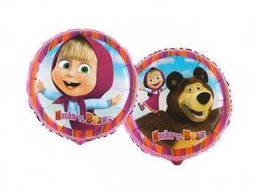 eng pl Masha and Bear Foil Balloon 45 cm 1 pc 26395 2