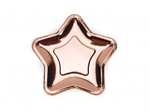 eng pl Paper Plates Star rose gold 18 cm 6 pcs 44540 3