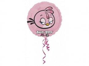 Fóliový balón Angry Birds ružový 47cm