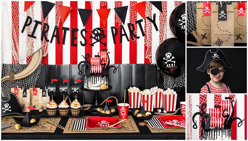 Pirátská oslava dekorace