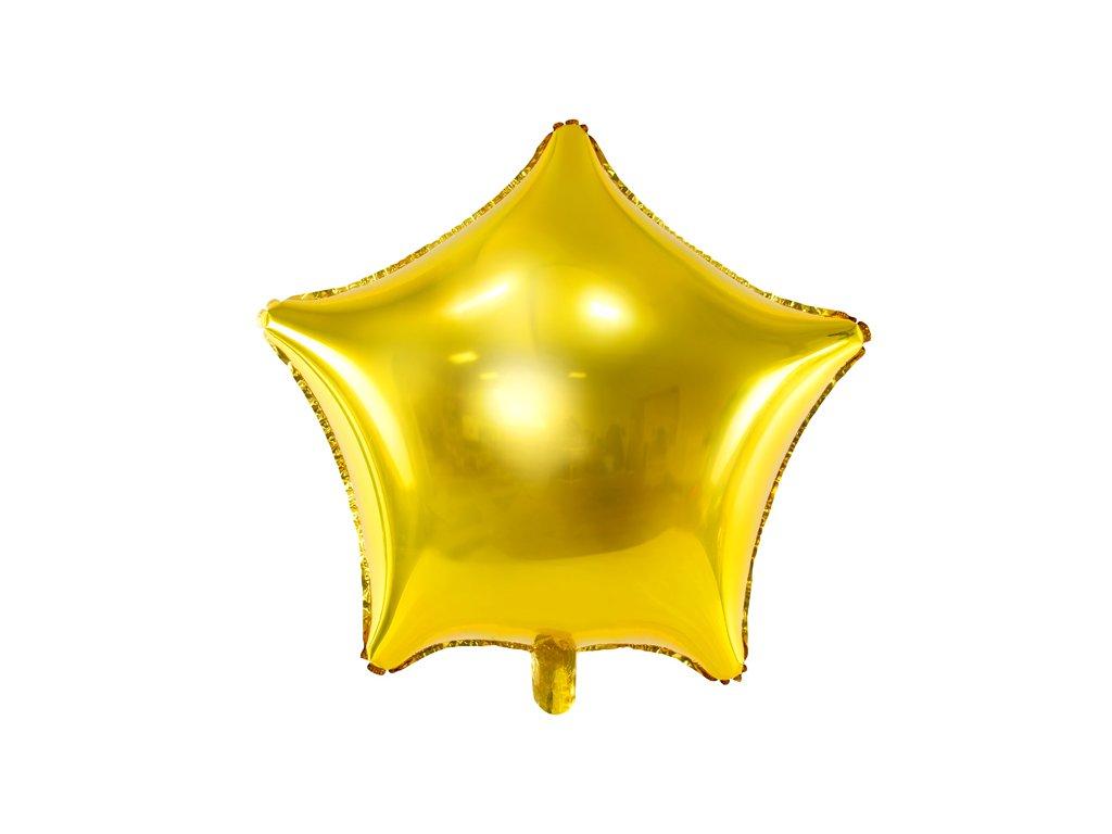 foliovy balonek hvezda zlaty