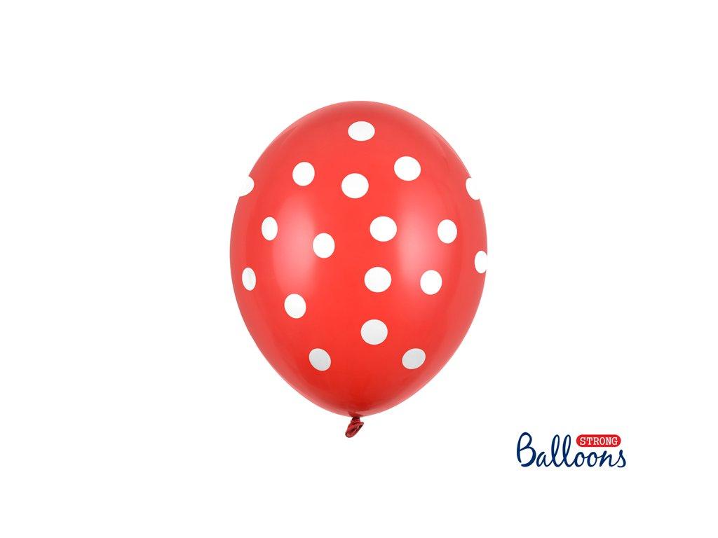 balonky s puntiky cervene