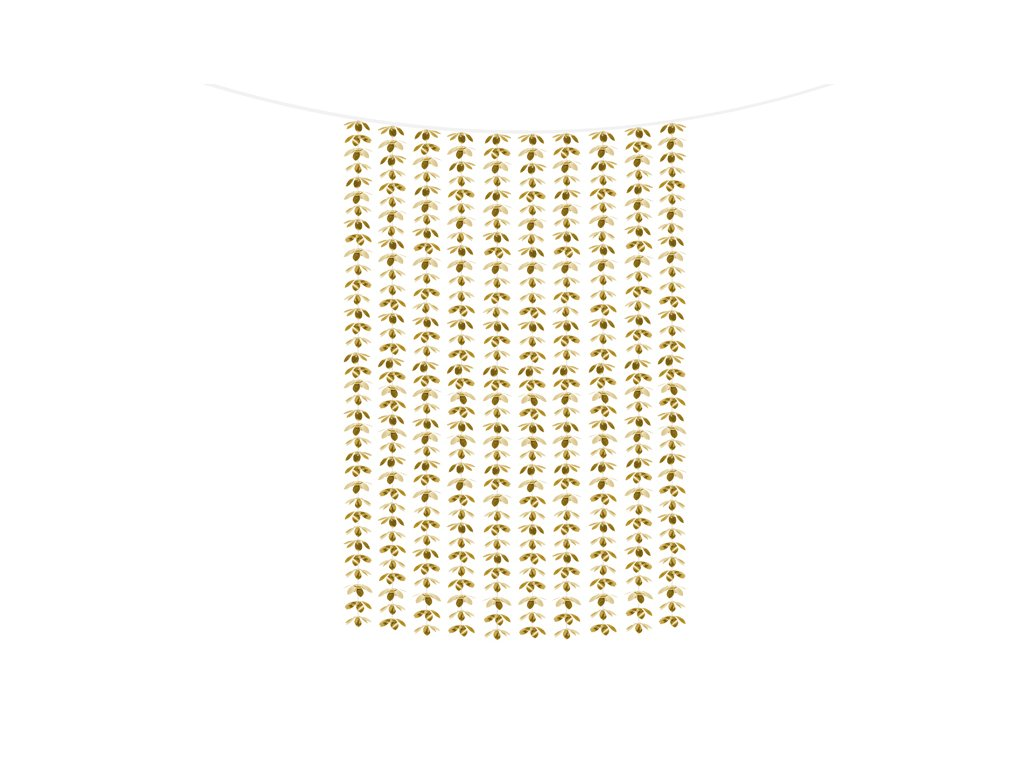 dekoracni zaves kvetinovy zlaty