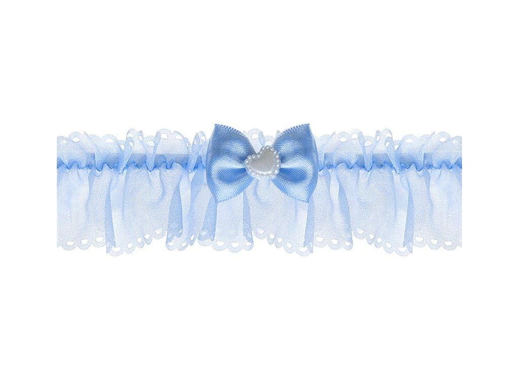 svatebni podvazek modry