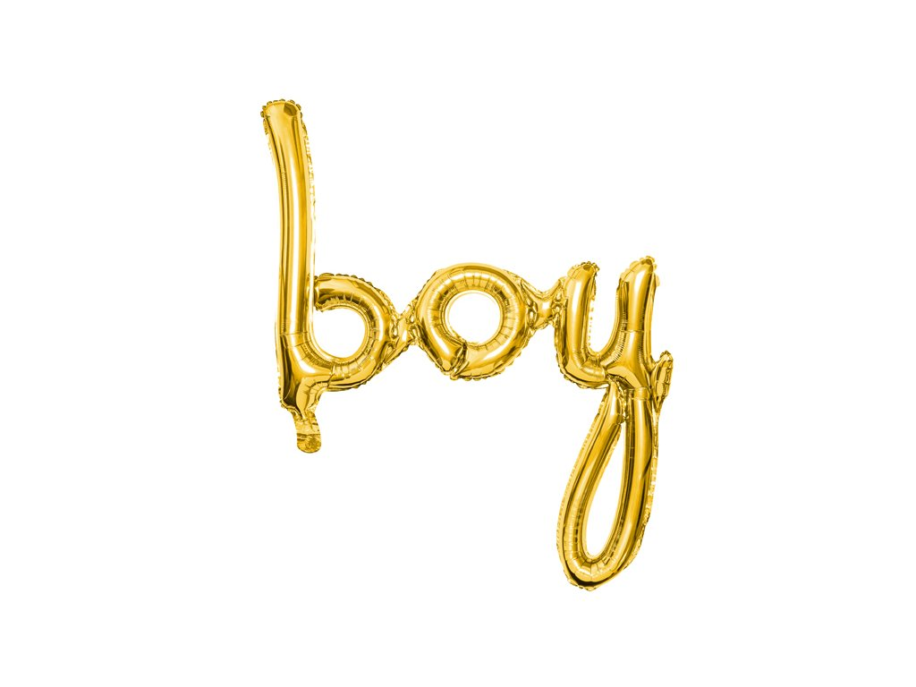 foliovy balonek boy zlaty