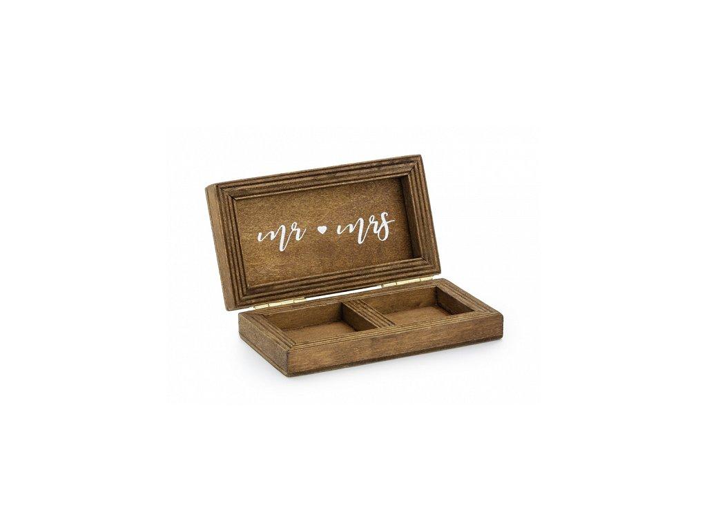 svatebni krabicka na prstynky drevena
