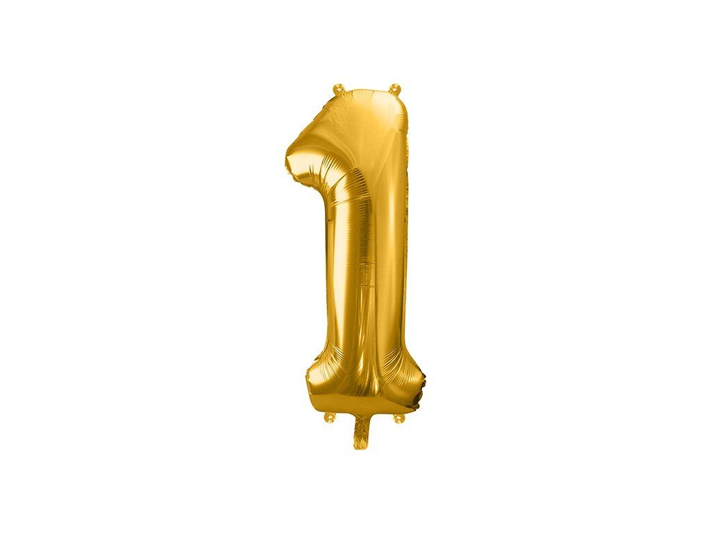 balonky cisla 1 zlata