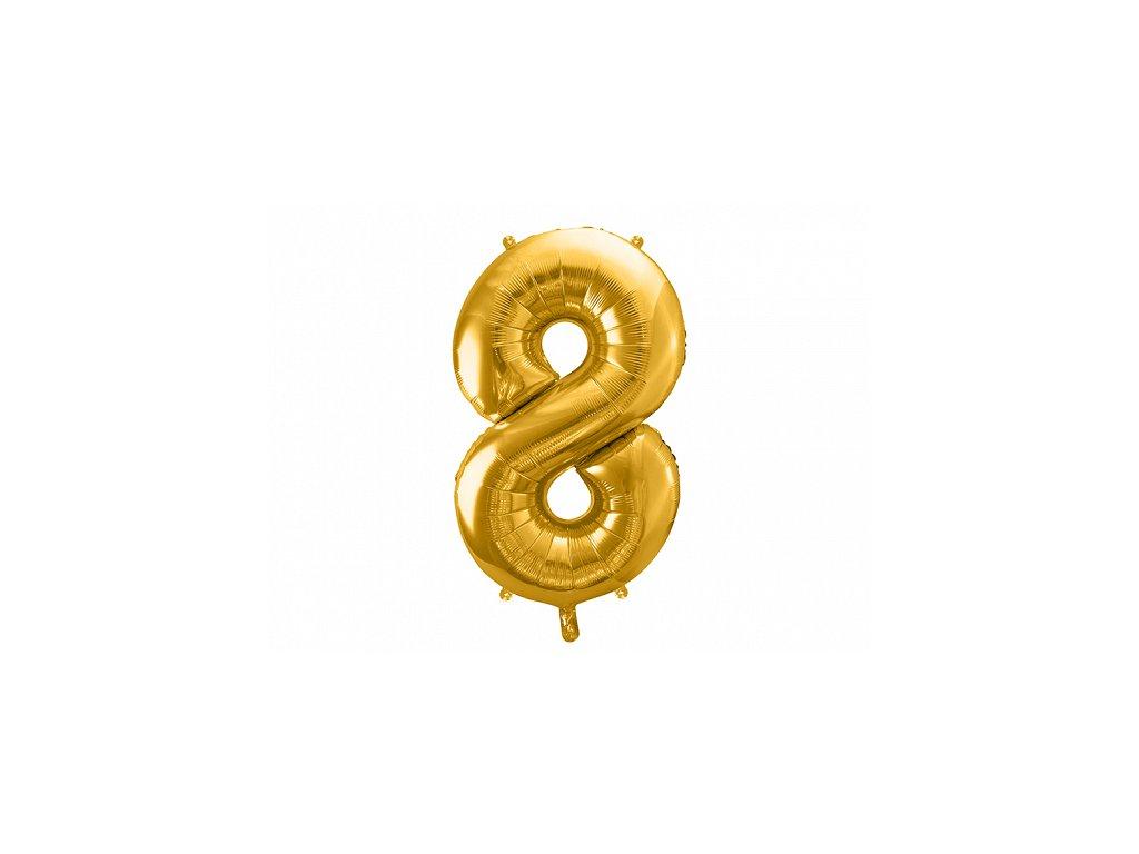 balonky cisla 8 zlate