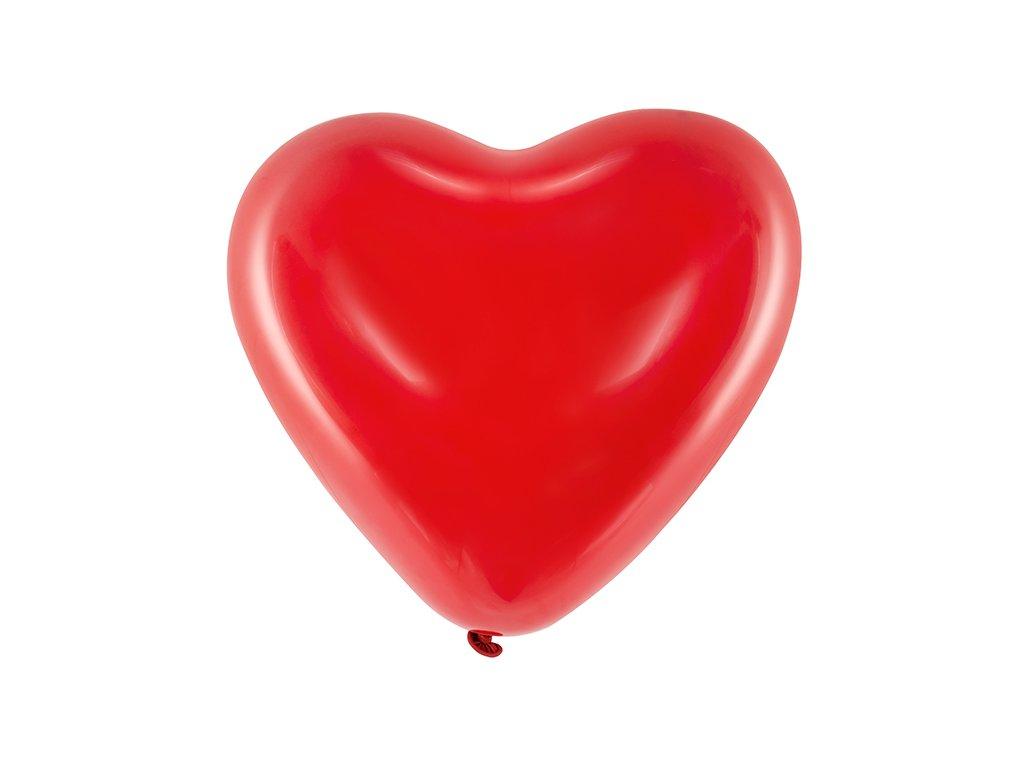 balonky srdce cervene 6 ks