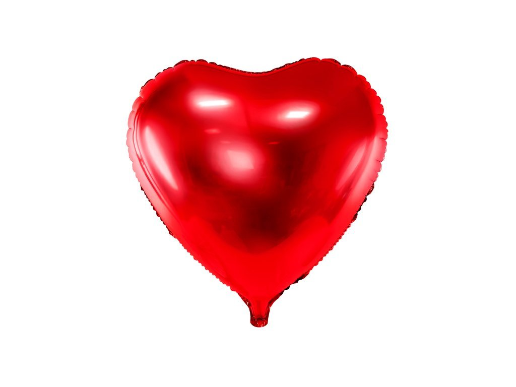 foliovy balonek srdce cervene