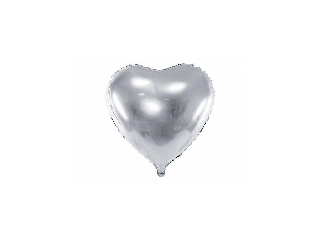 party balonky srdce stribrne