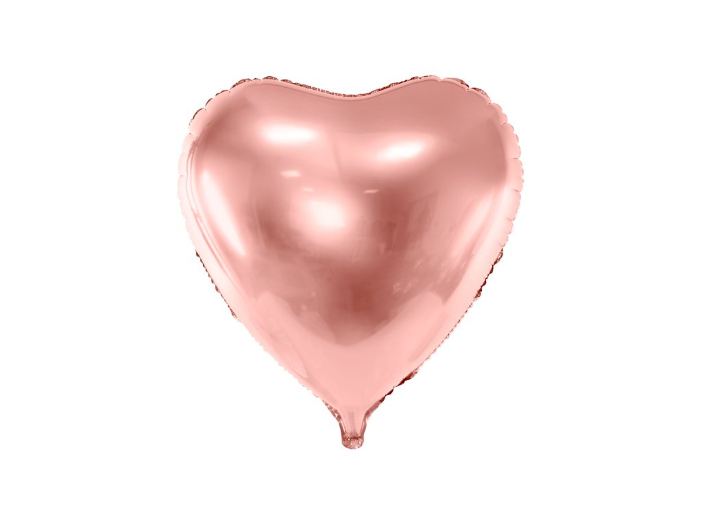 foliovy balonek srdce ruzove