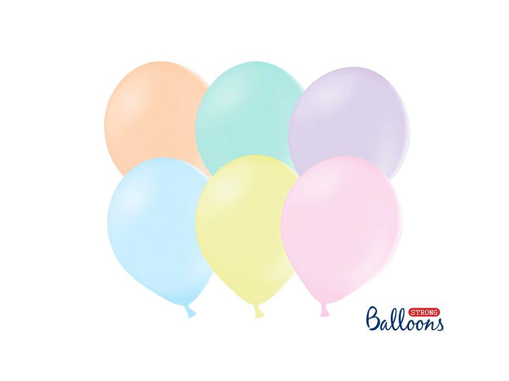 svetle pastelove balonky mix barev
