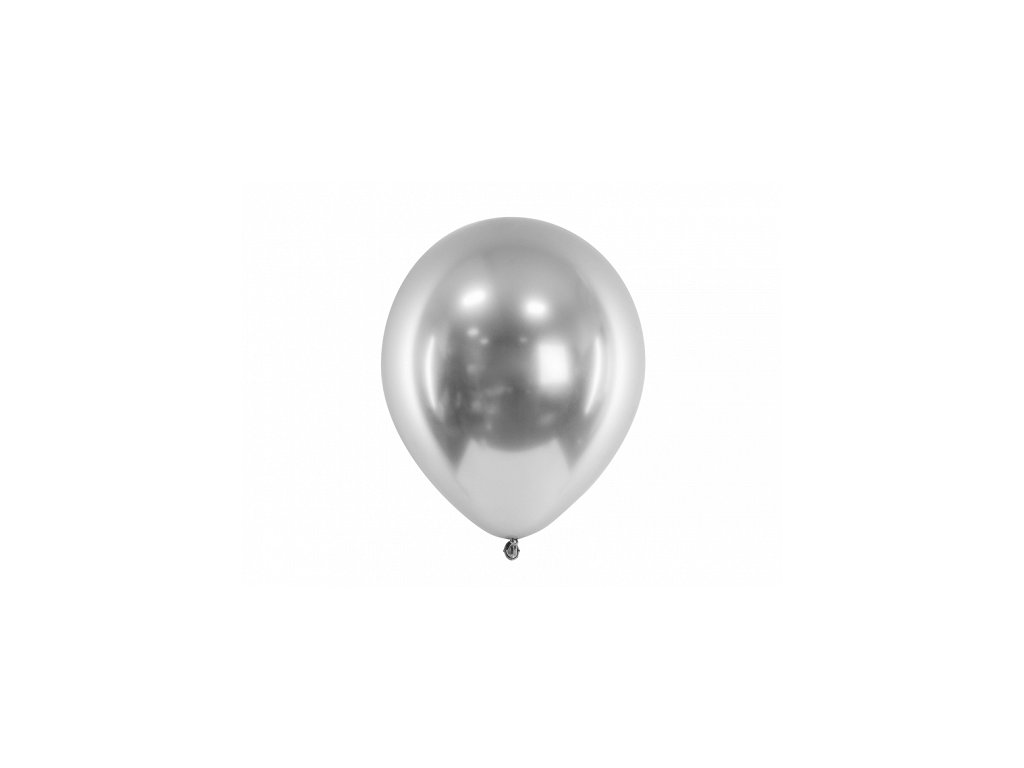chromovy balonek srdce