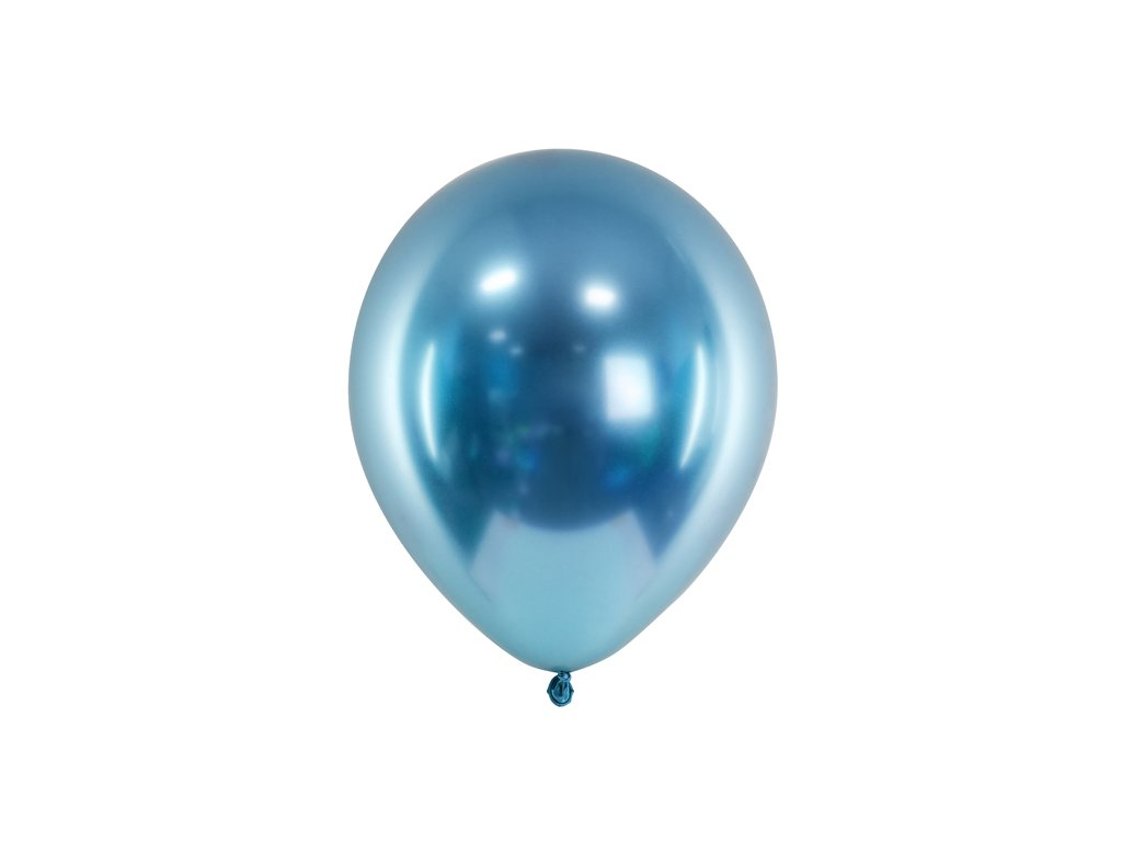 chromovy balonek modry