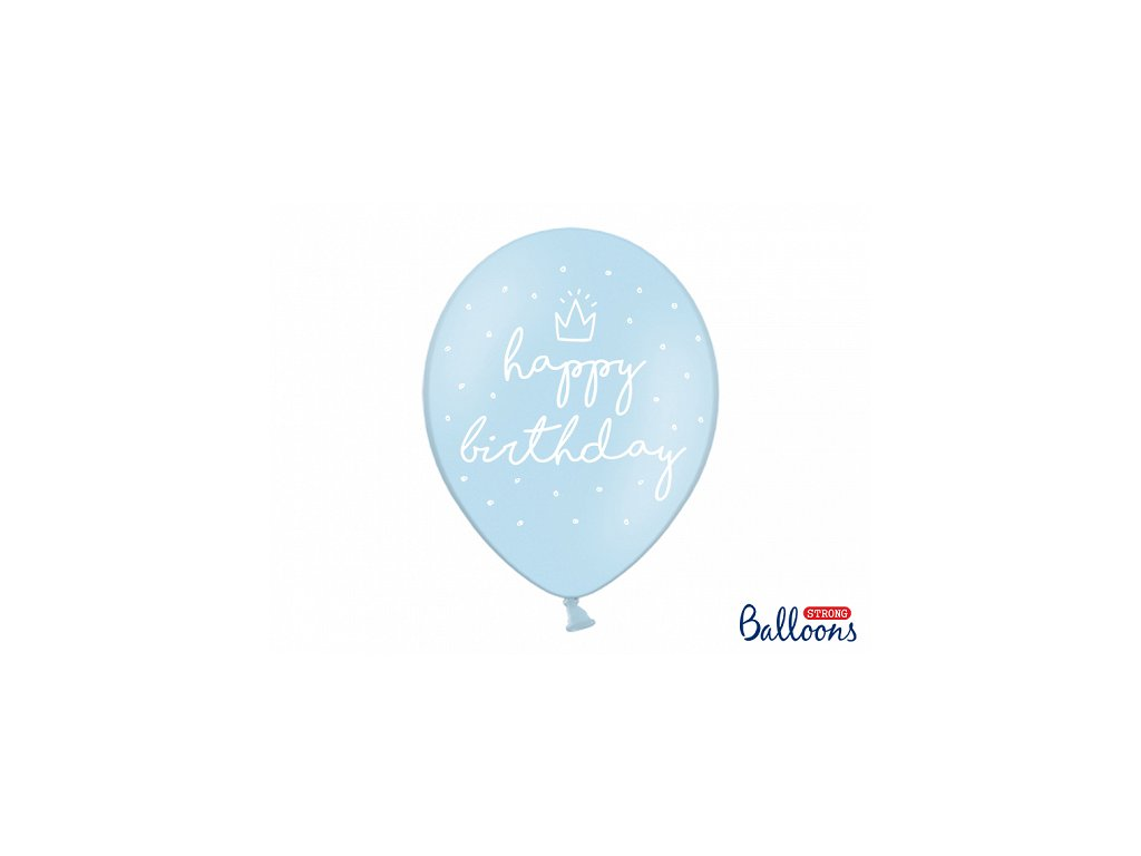 narozeninovy balonek happy birthday modry